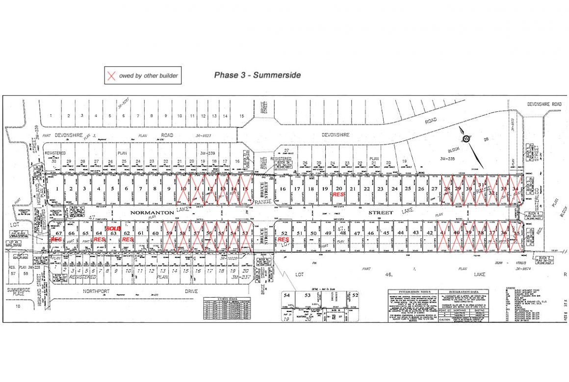 Summerside - Phase 3 Lot Plans